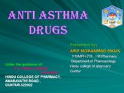 ANTI ASTHMA DRUGS