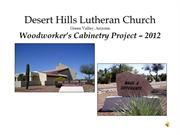 Desert Hills Lutheran Church Cabinetry Project 2012