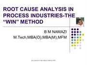 ROOT CAUSE ANALYSIS IN PROCESS INDUSTRIES