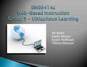 EME6414c Group 5 - Ubiquitous Learning