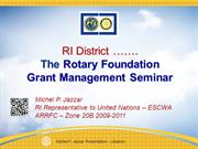 TRF New Grants Model, a comprehensive ppt-by Michel P. Jazzar