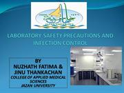 LABORATORY SAFETY PRECAUTIONS AND INFECTION CONTROL
