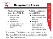 Comparative Thesis
