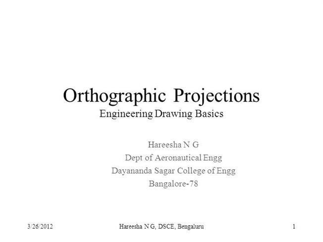 Orthographic Projections  authorSTREAM