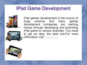 ipad game development