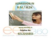 Admission in B.Ed/M.Ed