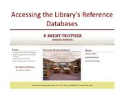 Accessing the Library Databases - Ancient Greece