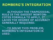 ROMBERG'S INTEGRATION