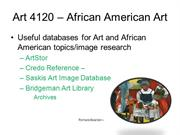 AFAM Library Resources