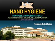 Hand Hygiene at Travancore Medical College Kollam India