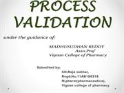 DRA- process validation