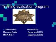 Training evaluation program ppt