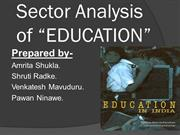 SECTOR ANALYSIS OF EDUCATION