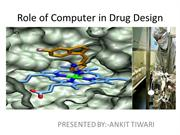 Role of computers in drug design