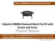 CobraCo FB8008 Diamond Mesh Fire Pit with Screen and Cover