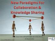 New Paradigms for Collaboration and Knowledge Sharing