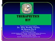Therapeutics of HIV