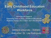 Early Childhood Education Workforce