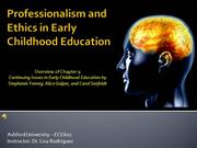 Professionalism and Ethics in Early Childhood Education