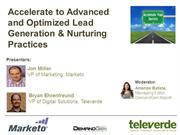Advanced and Optimized Lead Generation & Lead Nurturing Practices - Te