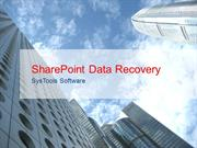 Corrupt SharePoint Database Recovery Software