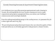 Condo Cleaning Services & Apartment Cleaning Services