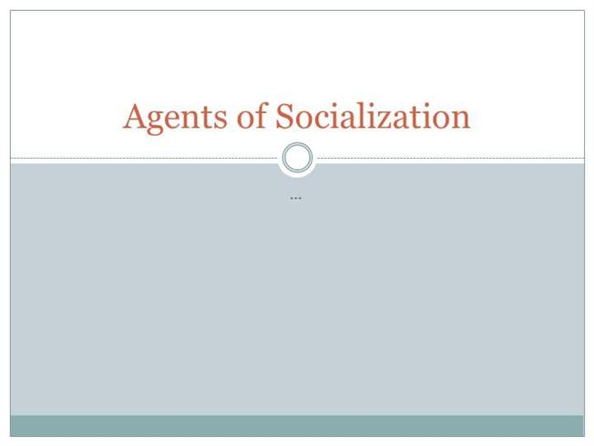 various agents of socialization