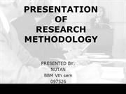 Presentation of Research methodology