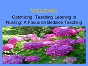 The Art & Science of Bedside Teaching