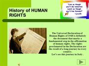 History Of Human Rights in Italy