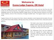 Econo Lodge Eugene Hotel near Sacred Heart Hospital OR