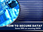How to secure data
