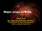 major crops of india presentation