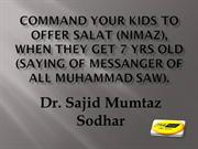 Command your kids to offer salah (nimaz