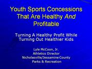 Healthy Eating Sports Concessions