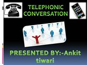 telephonic conversation....