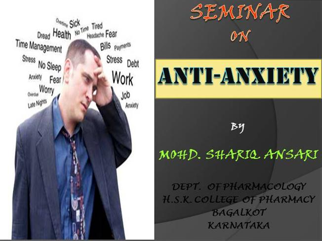 Non sedating anxiolytic drugs for anxiety