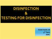 RAM NAIK- TESTING FOR DISINFECTION