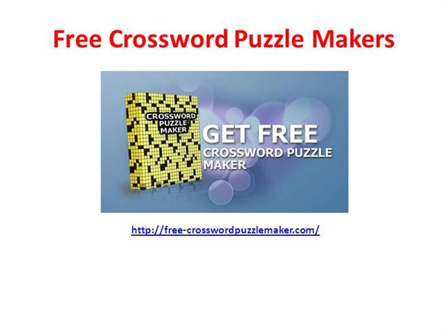 Free Crossword Puzzle Maker |authorSTREAM