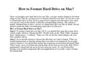 How to Format Hard Drive on Mac