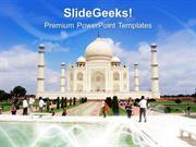 TRAVEL TAJMAHAL IS THE EIGHT WONDER OF WORLD PPT TEMPLATE