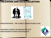 fieldwork and data collection