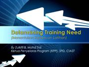 Determining Training Need
