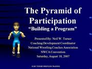 The Pyramid of ParticipationNWCA2007