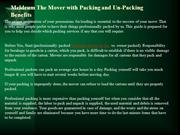 Meldrum The Mover with Packing and Un-Packing Benefits