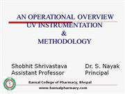 UV SPECTROSCOPY by S Shrivastava & Dr S Nayak