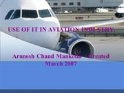 Information Technology in Airlines - Arunesh Chand Mankotia