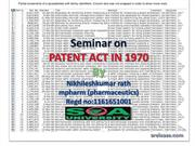 Patent act in 1970