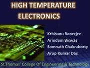 High Temperature Electronics