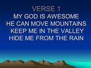 MY GOD IS AWESOME2